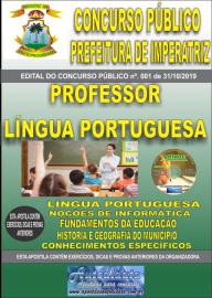 Apostila Impressa Concurso - Prefeitura Municipal de Imperatriz - MA 2019 - Professor Língua Portuguesa