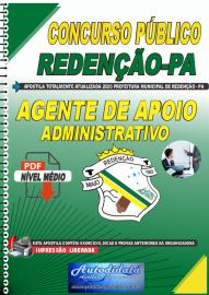 Apostila Digital Concurso Público Prefeitura de Redenção - PA 2020 Agente Apoio de Administrativo