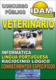Apostila Impressa Concurso IDAM - AM 2018 - Médico Veterinário