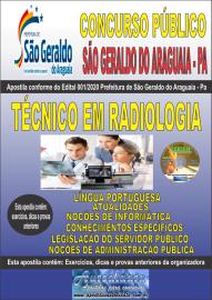 Apostila Impressa Concurso Público Prefeitura Municipal de São Geraldo do Araguaia - PA 2020 Técnico em Radiologia