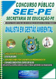Apostila Impressa Concurso SEE-PE Secretaria de Educação do Estado de Pernambuco 2021 Analista em Gestão Ambiental