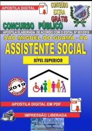 Apostila Digital concurso SÃO MIGUEL DO GUAMÁ/PA 2019 – Assistente Social