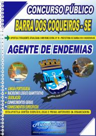 Apostila Impressa Concurso Público Prefeitura de Barra dos Coqueiros - SE 2020 Agente de Endemias