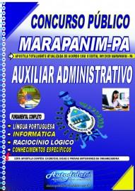 Apostila impressa concurso Marapanim - PA 2020 AUXILIAR ADMINISTRATIVO