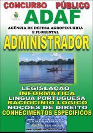 Apostila Impressa Concurso ADAF - AM - 2018 - Administrador