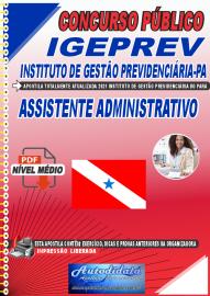 Apostila Digital Concurso IGEPREV-Instituto de Gestão Previdenciária-PA 2021 Assistente Administrativo