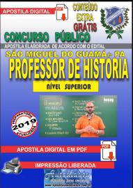 Apostila Digital concurso SÃO MIGUEL DO GUAMÁ/PA 2019 – Professor De História