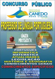 Apostila Impressa SENADOR CANEDO/GO 2020 - Professor De Língua Portuguesa