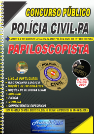 Apostila Impressa Concurso Público Polícia Civil Pará 2021 Papiloscopista