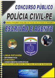 Apostila Impressa Concurso PC-PE 2021 Escrivão e Agente