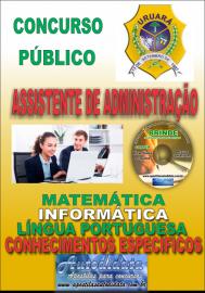 Apostila Impressa Processo Seletivo de URUARÁ/PA 2019 – Assistente De Administração