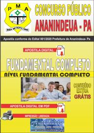 Apostila Digital Concurso Público Prefeitura de Ananindeua - PA 2020  Nível Fundamental Completo
