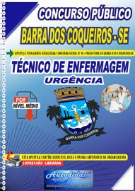 Apostila Digital Concurso Público Prefeitura de Barra dos Coqueiros - SE 2020 Técnico de Enfermagem em Urgência