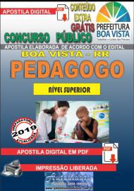 Apostila Digital BOA VISTA/RR 2019 - Pedagogo