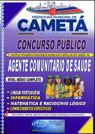 Apostila impressa concurso de CAMETÁ-PA 2021 - AGENTE COMUNITÁRIO DE SÁUDE - ACS