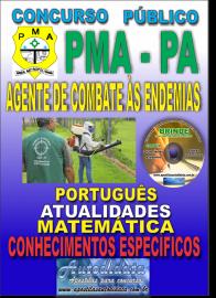 Apostila Impressa Concurso de ANANINDEUA/PA - 2019 – Agente De Combate Às Endemias