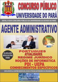Apostila Impressa Concurso Universidade do Estado do Pará - UEPA 2019 Agente Administrativo