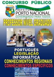 Apostila Impressa Concurso da Prefeitura de Porto Nacional - TO – 2019 - Professor Nível Graduado (20 HORAS; 30 HORAS; 40 HORAS)