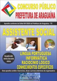 Apostila Impressa Concurso Público Prefeitura Araguaína - TO 2020 Área Assistente Social