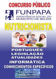 Apostila impressa concurso da FUNPAPA-PA 2018 - Nutricionista