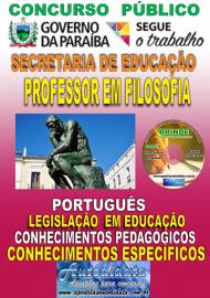 Apostila Impressa Concurso SEECT/PB - 2019 - Professor De Filosofia