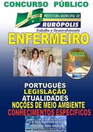Apostila Impressa Concurso PREFEITURA MUNICIPAL DE RURÓPOLIS - PA - 2019 - Enfermeiro