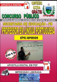 Apostila Digital Concurso SEECT/PB - 2019 - Professor De Língua Portuguesa