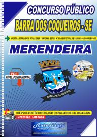 Apostila Digital Concurso Público Prefeitura de Barra dos Coqueiros - SE 2020 Nível Fundamental Merendeira