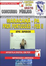 Apostila Digital MARACANÃ/PA 2019 - Professor Anos Finais – Peb II –Língua Portuguesa