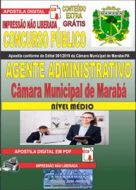 Apostila digital concurso público Câmara Municipal de Marabá - Pa 2020 Nível Médio Agente Administrativo