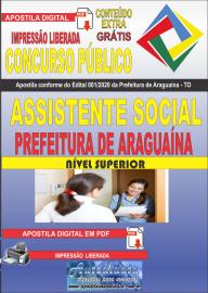Apostila Digital Concurso Público Prefeitura Araguaína - TO 2020 Área Assistente Social