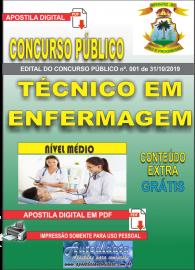 Apostila Digital Concurso - Prefeitura Municipal de Imperatriz - MA 2019 - Técnico em Enfermagem