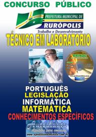 Apostila Impressa Concurso PREFEITURA MUNICIPAL DE RURÓPOLIS - PA - 2019 - Técnico Em Laboratório