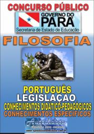 Apostila impressa Concurso SEDUC-PA 2018 - Professor de Filosofia
