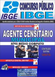 Apostila Digital Concurso Público Instituto Brasileiro de Geografia e Estatística (IBGE) 2020 Agente Censitário Municipal (ACM)