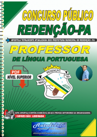 Apostila Digital Concurso Público Prefeitura de Redenção - PA  - 2020 Professor de Língua Portuguesa