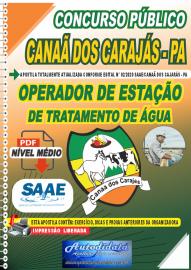 Apostila Digital Concurso Público SAAE/Canaã dos Carajás - PA 2020 Operador de Estação de Tratamento de Água