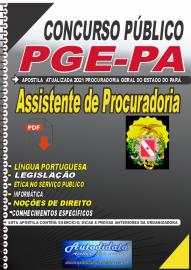Apostila digital concurso da Procuradoria Geral do Estado do Pará -PGE - PA 2021 - Assistente de Procuradoria