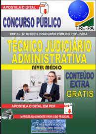 Apostila Digital Concurso TRE-PA 2019 Técnico Judiciário Área Administrativa