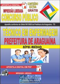Apostila Digital Concurso Público Prefeitura Araguaína - TO 2020 Área Técnico em Enfermagem