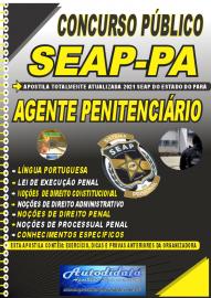 Apostila Impressa Concurso SEAP - PA 2021 Agente Penitenciário