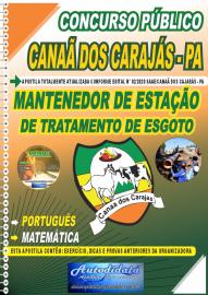 Apostila Impressa Concurso Público SAAE/Canaã dos Carajás - PA 2020 Mantenedor de Estação de Tratamento de Esgoto