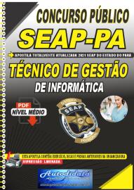 Apostila Digital Concurso SEAP - PA 2021 Técnico de Gestão de Informática