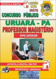 Apostila Digital Processo Seletivo de URUARÁ/PA 2019 – Professor Magistério