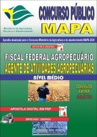 Apostila Digital Concurso Público do MAPA - 2020 Fiscal Federal Agropecuário - Agente de Atividades Agropecuárias