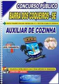Apostila Digital Concurso Público Prefeitura de Barra dos Coqueiros - SE 2020 Nível Fundamental Auxiliar de Cozinha