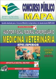 Apostila Digital Concurso Público do MAPA - 2020 Auditor Fiscal Federal Agropecuário - Medicina Veterinária