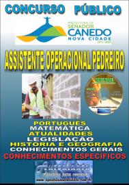 Apostila Impressa SENADOR CANEDO/GO 2020 - Assistente Operacional/Pedreiro