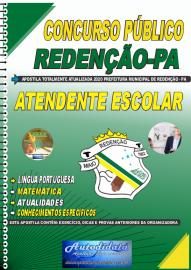 Apostila Impressa Concurso Público Prefeitura de Redenção - PA 2020 Atendente Escolar