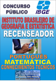 Apostila Digital Concurso do IBGE - 2017 - Recenseador